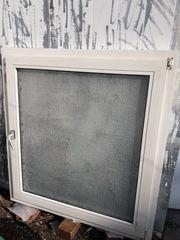 Kunststofffenster gebraucht - geriffeltes Glas - Sichtschutz