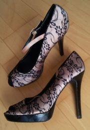 Damen High Heels fliederfarbend mit