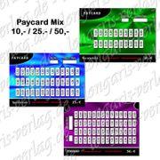 Verzehrkarten Mix Paycards DE EN
