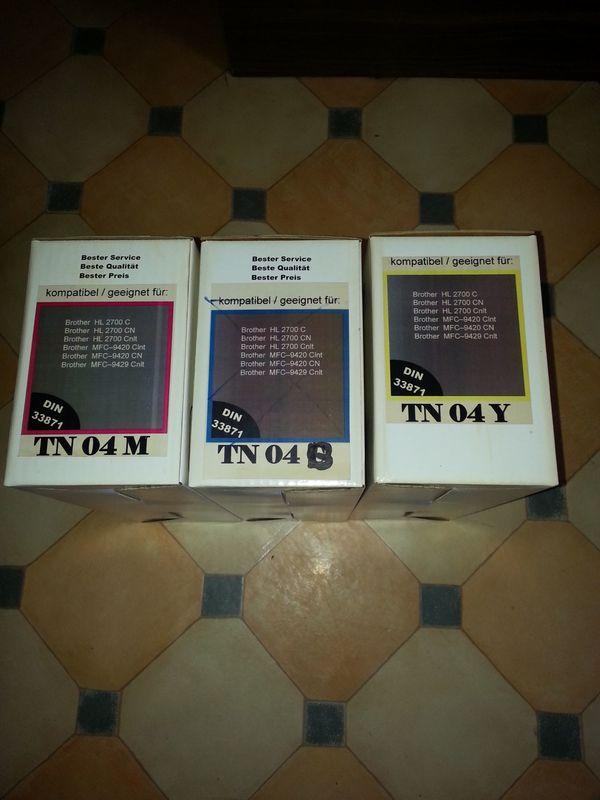 Drucker Patronen Toner / Brother Neu - Rheinau - Verkaufe hier drei Toner Brother Patronen sie sind alle Neu und in Ortnung in der Farbe Gelb / Rot / Schwarz pro Stück 23 euro Bei Fragen gerne melden Versand wäre möglich - Rheinau