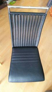 4 EZ-Stühle Freischwinger LederSitzfläche
