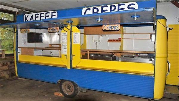 historischer Westfalia Verkaufswagen Foodtruck zu