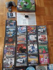 PS1 Konsole mit Spiele