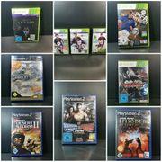 Verschiedene Playstation 2 und Xbox360