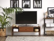 TV-Möbel dunkler Holzfarbton CLINTON neu -