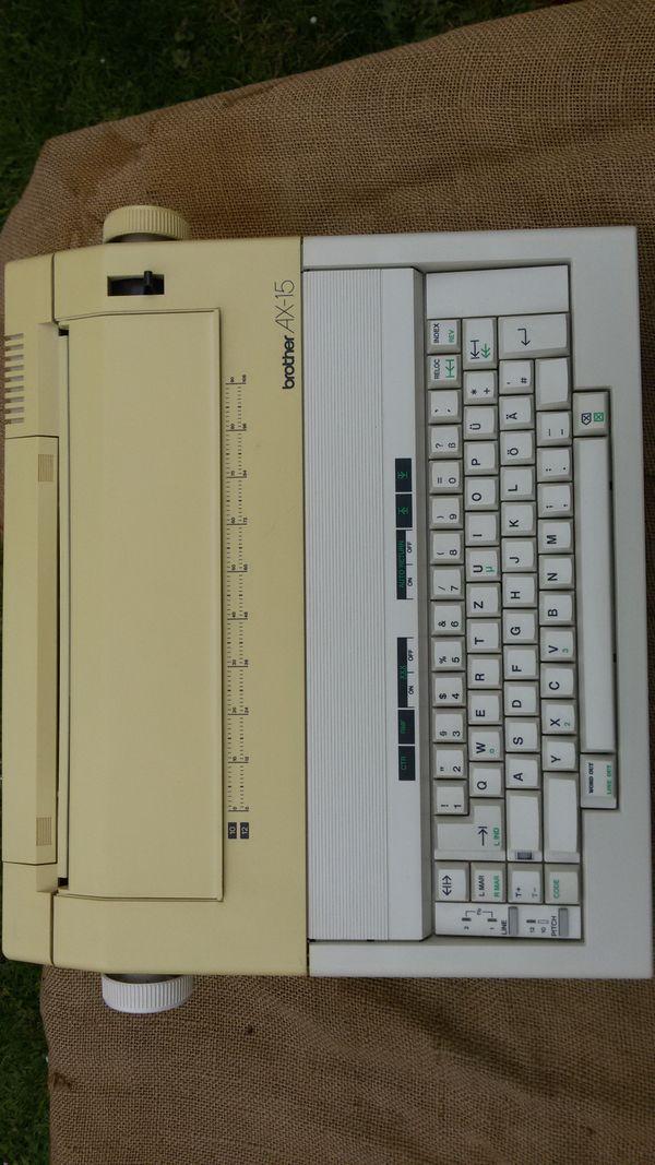Schreibmaschine Brother AX 15 zu