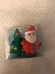 Radiergummis Weihnachtsmann und Tannenbaum