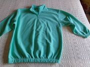 Vintage Fleece-Sweatshirt Langarmshirt Gr 176