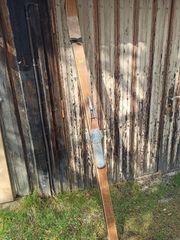 Antike Ski aus Hickory Holz