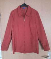 Bluse Blusenjacke rostfarben mit kl