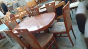 Esstisch mit 6 Stühlen 130x94x77