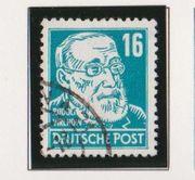 Gestempelte DDR-Briefmarke Rudolf Virchow