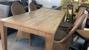 Voll-Holz Tisch mit Stühlen - 210