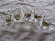 5 Wein-Gläser Probier-Gläser 0 1