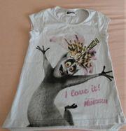 T-Shirt Longshirt Gr 110 weiß