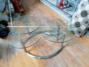 Glas Metallcouchtisch