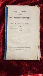 1818 Baiern Königreich Konkordat Buch