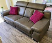 Leder Wellness Sofa