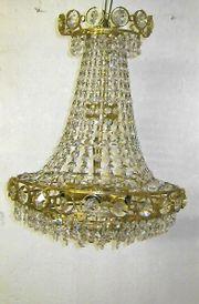 Lampe 6 flammig aus Bleikristall -