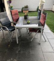 Gartenmöbel Alu Tisch inklusive Stühle