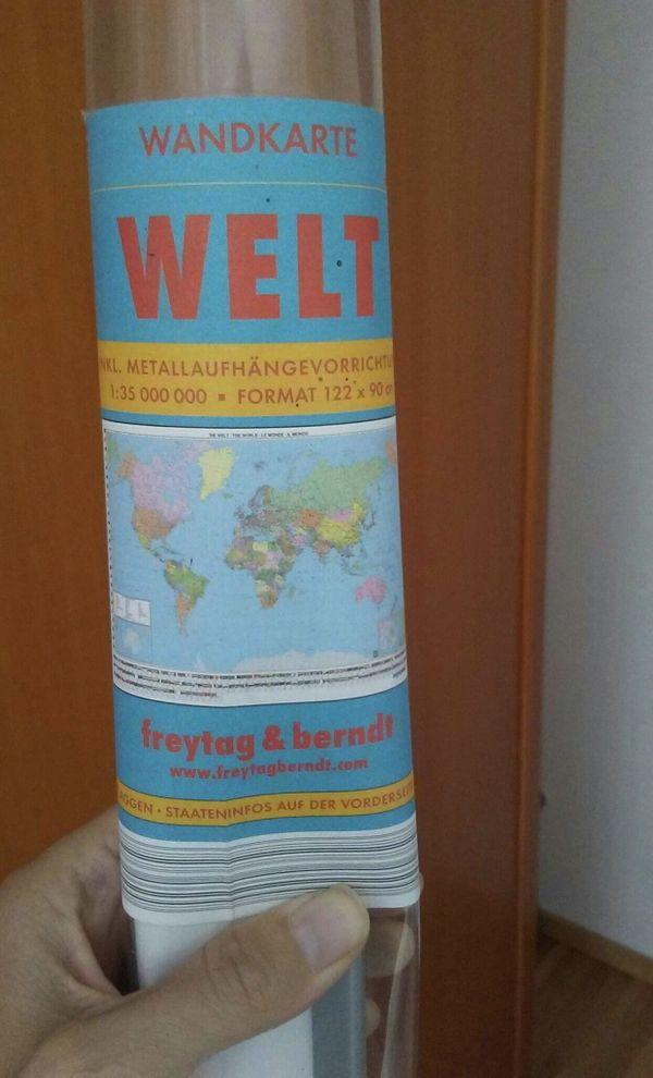 Welt Wandkarte