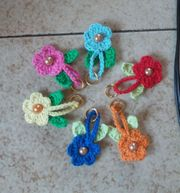Amigurumi - Schlüsselanhänger - gehäkelte Blume