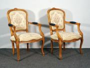 Armlehnsessel Rokoko-Stil Buche Stuhl Polster
