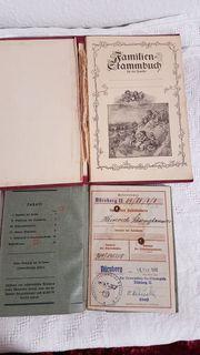 Wehrpaß 1940 Familien Stammbuch Deutschland