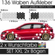 Waben Muster Dekor Auto XXL