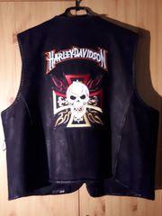 Wildleder Weste mit Harley Davidson