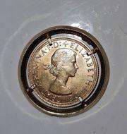 Goldmünze Elizabeth II 1958 8g