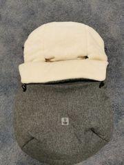Winter-Fußsack für Tragewanne Babyschale grau