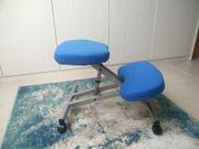 Orthopädischer Kniehocker Bürostuhl Homeoffice Blau