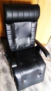Liegestuhl Massagestuhl aus Leder --