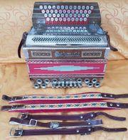 Steirische Harmonika E-A-D-G Akkordeon mit