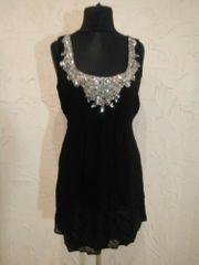 OASIS Kleid mit Strasssteinchen schwarz