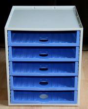 Ablage-Box - Kunststoff - 5 Fächer - für