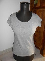 Hellgraues 1 2 Arm T-Shirt