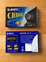 Audiokassetten EMTEC 90 min CHROME