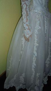 Hochzeitskleid Brautkleid Perlen Tüll Gr
