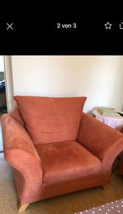 Sessel mit Soffbezug sehr gut