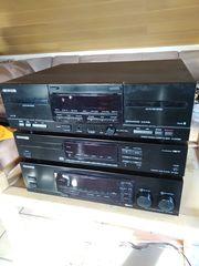KENWOOD CD-Player und Doppel-Cassettendeck