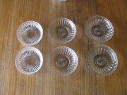 Geschliffene runde Glas Salatschalen