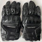 Polo FLM Motorradhandschuhe schwarz Leder