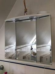 Spiegelschrank - 3-türig - weiß