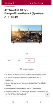 Lg Fernseher TV 49 Zoll