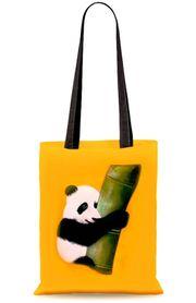 Schöne neue handbemalte Stoff-Einkaufstaschen Panda