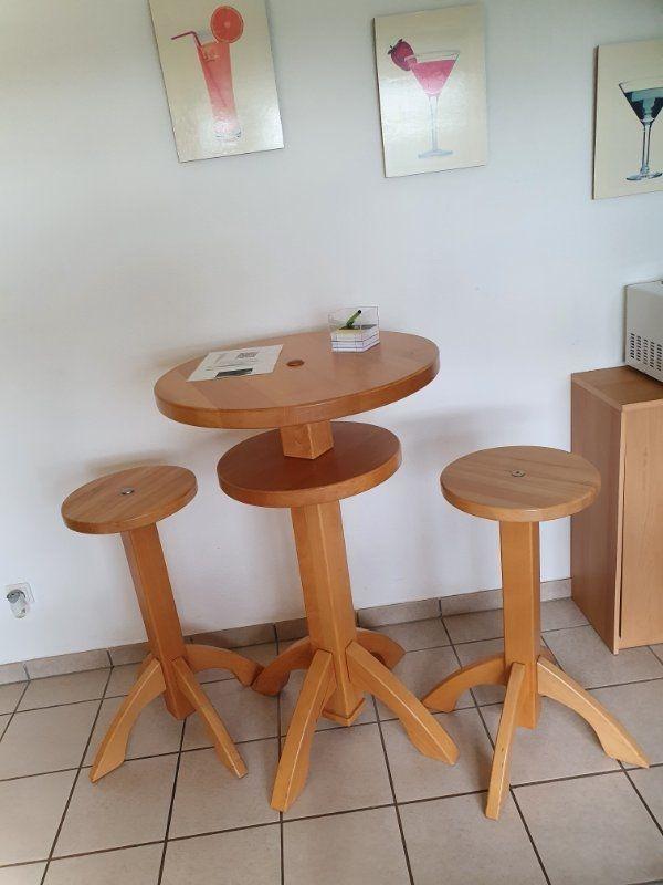 Massivholz Barhocker und Tisch Schnäppchen