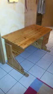 Schülerschreibtisch Holz stabil mitwachsend kippbar