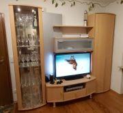 komplette Wohnzimmer Schrankwand mit Barschrank